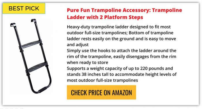 Best Trampoline Ladder Reviews 2018