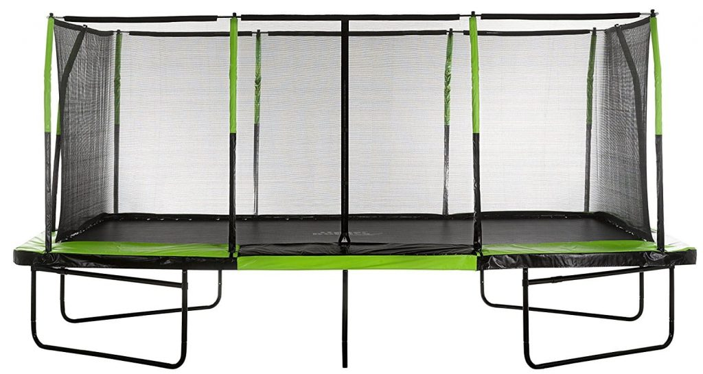 Upper Bounce Rectangular Trampoline with Fiber Flex Enclosure