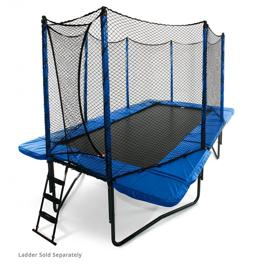 JumpSport 10×17 Feet Staged Bounce Rectangle Trampoline