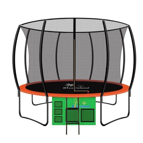 Blue island 12-Feet Round Outdoor Trampoline