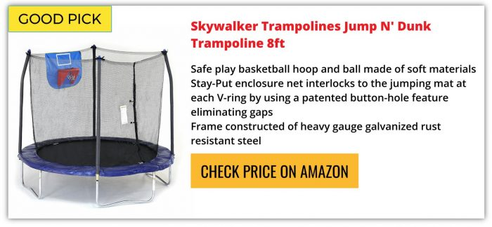 skywalker 8ft trampoline reviews
