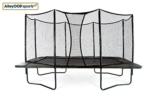 AlleyOOP 10'x17' Rectangular Trampoline with Integrated Safety Enclosure
